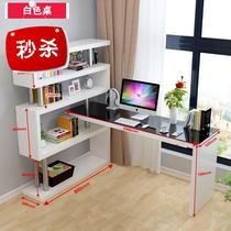 Desk cabinet a 9-body small apartment computer desktop table simple bedroom corner desk bookshelf combination office