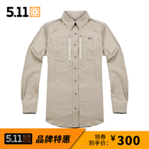 US 5.11 72431 HK Asian Tactical climbing long-sleeved shirt lightweight breathable quick-drying lapel shirt
