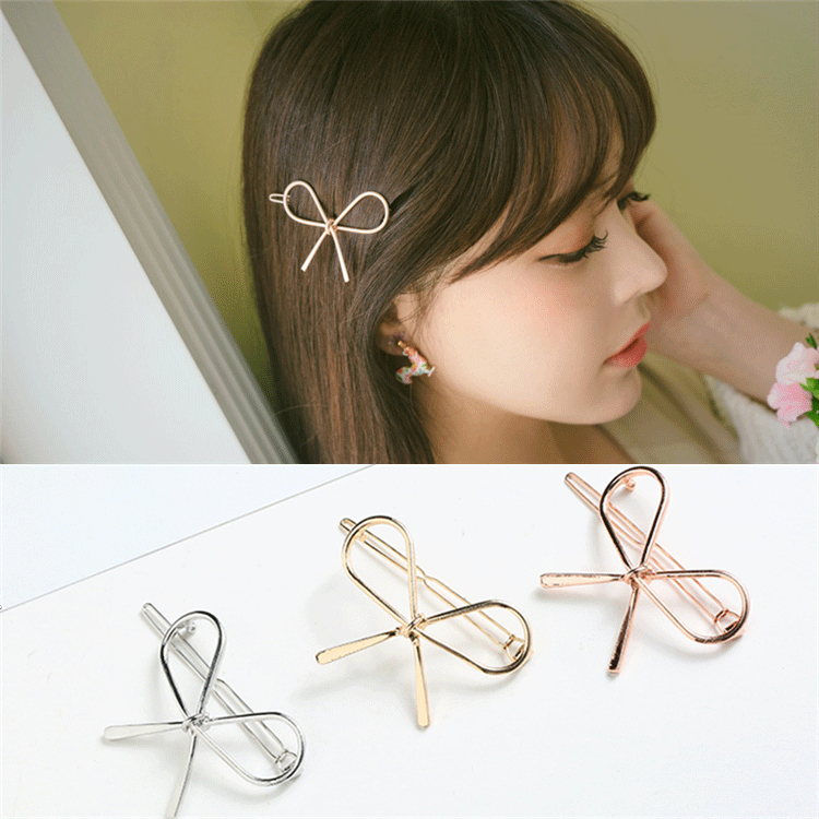 Korean version of the hair clip top clip card tiara hair card small jewelry bow hairpin hair clip decorated Liu Hai a word edge clip.