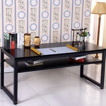 Double-deck Chinese calligraphy and painting calligraphy table painting desk table reading room long New table training table and chair