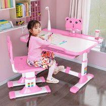 Childrens learning tables and chairs combination set can be raised and lowered household children simple desk table baby desk homework desk