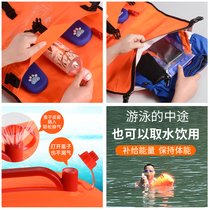 Wave posture with cockroach swimming bag adult thick double balloon waterproof storage bag swimming equipment float