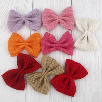 Linen bow wedding decoration flower DIY handmade clothing accessories flowers glass bottles shoes and hats accessories