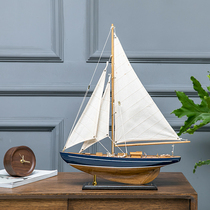 American wooden sailing model manual assembly ship desktop ornaments window decoration solid wood simulation craft ship