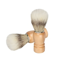 Mens shaving brush shaving wooden handle vintage shaving brush shaving soap bubbler brush a Shito