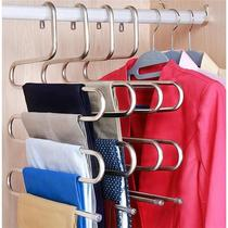 (Bold and thick) five-layer stainless steel multi-purpose clothes rack pants rack wardrobe storage clothes clothes racks