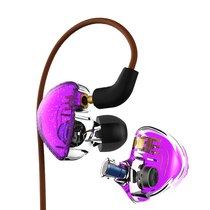 Double unit circle iron earphone in-ear fever DIY unit hifi HD lossless sound quality MMCX upgrade line