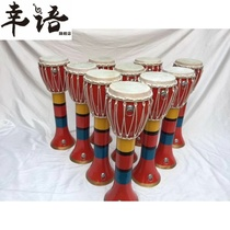 Elephant foot drum long drum Yunnan Dai drum craft drum beat drum real wood leather drum art drum decoration custom drum
