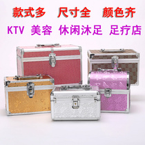 Foot massage technician on the clock portable toolbox foot bath pedicure nail box beauty salon storage box ear box
