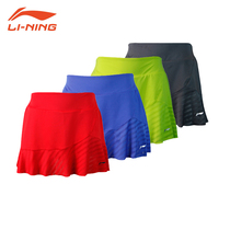 Li Ning sports skirt female genuine badminton series Summer cool womens sports leisure pants skirt female ASKL042