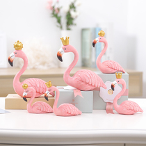 INS resin flamingo decorative pendant teen heart room decorations Creative home small Furnishings Wedding Gifts