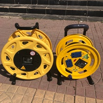 (Owner recommended)good quality portable reel coiled wire with overload leakage protector wiring empty tray