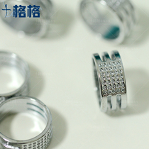 Cross stitch embroidery tools hand sewing household stainless steel thimble