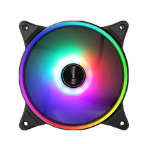 Hang Jia shadow wind shadow computer chassis fan 12cm mute Desktop Host fan RGB cooling fan