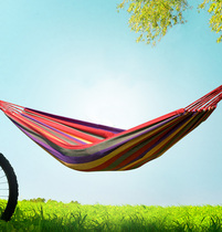 Daily special outdoor camping camping single hammock color canvas swing beach outdoor supplies wild.