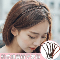 2018 spring on the New South Korean jewelry wig twist braid hair hoop twist braid wig headband hair accessories