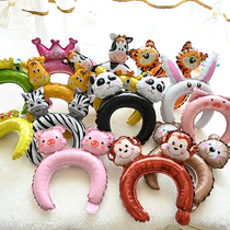 Childrens cartoon inflatable aluminum hair hoop childrens six one balloon head buckle birthday dress cute toys Super Meng 61
