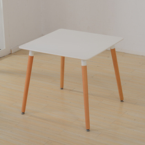 Nordique Simple mode casual table table table à manger petite table ronde moderne de négociation simple table table basse table Eames