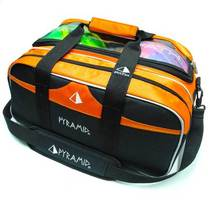 PYRAMID eco-friendly economy bowling double ball bag backpack no tie rod 2 Ball Bag double ball bag orange black