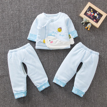 2019 Spring New newborn Cotton three-piece men and women baby spring clothes 0-3 months baby coat