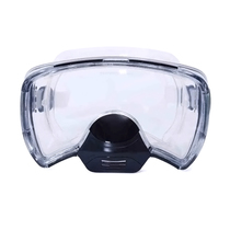 Mirror wide field of view nose can exhale tempered glass diving mirror pig nose mask