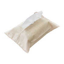 Cotton and linen table towel set of tissue paper bag paper bag fabric car paper bag tissue box paper box tissue bag