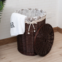 Huangshangju Excellent products rattan dirty clothes basket basket Dirty baskets Clothing toys dirty clothing storage basket bedroom weaving