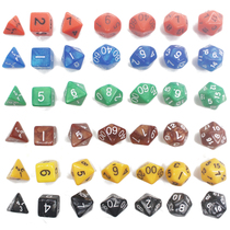 Multi-faceted dice digital color table games running group dnd4 surface 6 8 10 12 20 face sieve Dragon and the dice