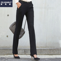 Black trousers female spring and autumn trousers professional dress suit pants work pants women was thin straight pants summer