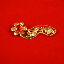 Wishful hairpin wedding supplies wedding Ruyi folder brooch wedding bride blonde hairpin