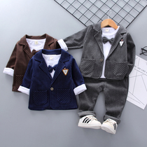 Boy suit handsome spring and autumn loaded 1-23-4 years old male baby Korean version of the small dress tide children suit three suit