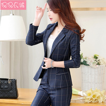 2019 spring new female suit short jacket slim plaid small suit long-sleeved blouse casual jacket tide