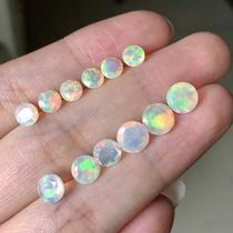 Natural Opal bare stone face Round 5 Round 6 Round 7 can be customized inlay ring pendant earrings