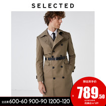 SELECTED Ryder Autumn   Winter new products retro double-breasted mens long coat jacket S)4193OM515