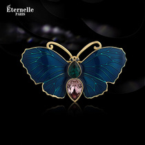 French Eternelle elegant butterfly brooch femininity clothing cardigan buckle coat collar pin buckle brooch