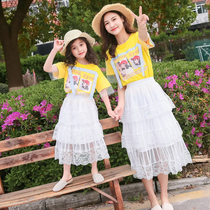 Parent-child loaded mother and daughter loaded Western style suit summer fashion mother and daughter two sets of 2019 new Korean casual skirt