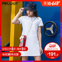 Bursi and POLO skirt short-sleeved summer polo shirt breathable quick-drying comfortable stand-collar sports T-shirt