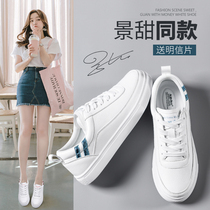Small white shoes female 2018 New wild Korean version of the basic casual shoes net red winter shoes ins plus cashmere cotton shoes