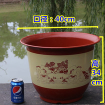 Summer new home accessories flower pots large plastic extra large imitation ceramic round thickening home Yang