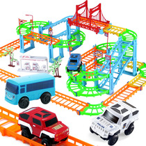 Rail car Toy Electric hundred variable track racing kids toy hundred smaller train set puzzle toy boy