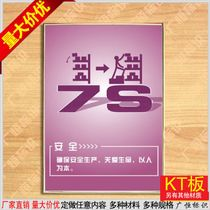 Ensure safety production Care Life corporate culture wall charts photo panels custom spray painting wall charts custom