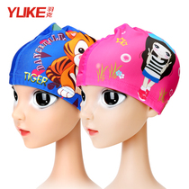 Feather cartoon childrens swimming cap boy girl not le head comfortable ear protectors cute swimming cap baby cloth hat