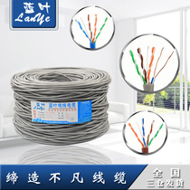 Blue Leaf network cable national standard Super five types of network cable computer network cable monitoring network cable broadband network cable twisted pair