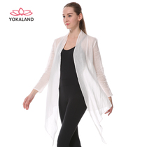 You Karelian flax summer perspective elegant cardigan yoga shawl sunscreen outdoor sports long-sleeved yoga jacket female