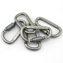 Outdoor multi-purpose tools small equipment D-Type with lock aluminum quick-hanging carabiner key chain sundries hooks