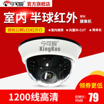HD 1200 line wide-angle hemispheric surveillance camera Infrared night vision home wide-angle analog camera