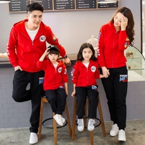 Parent-child autumn 2019 New Tide a family of three and four mother and daughter mother and child fashion Western sweater suit autumn models