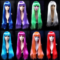 Lin Fang 150gCOSPLAY wig non-mainstream long straight hair masquerade ball wig long hair straight hair 75CM