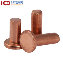 (M2 M2.5 M3) Standard parts GB109 flat head copper Rivet Copper nail solid rivet flat cap Bronze nail