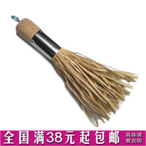 Large solid wood long wood handle bamboo pot brush pot brush with brush wash pot brush kitchen pan brush non-stick oil